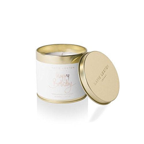Katie Loxton - Round Tin Candle - Happy Birthday - Vanilla and Wild Daisy