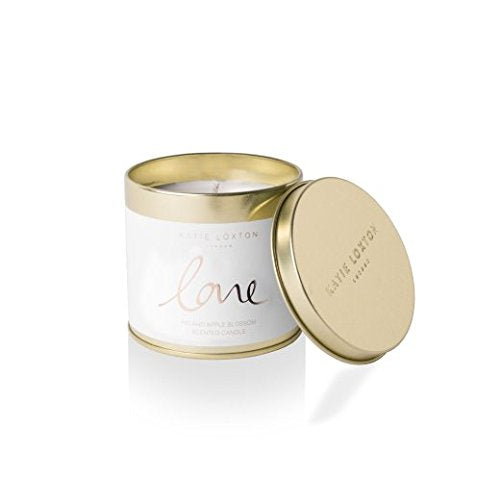 gifteasyonline - Katie Loxton - Round Tin Candle - Love - Fig and Apple Blossom - Katie Loxton - Katie Loxton