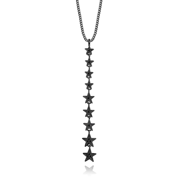 Joma Jewellery StarGaze Black Necklace