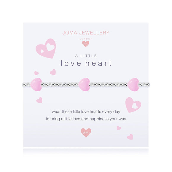 gifteasyonline - A Little Love Heart Girls Bracelet By Joma Jewellery - Joma Jewellery - Joma Jewellery