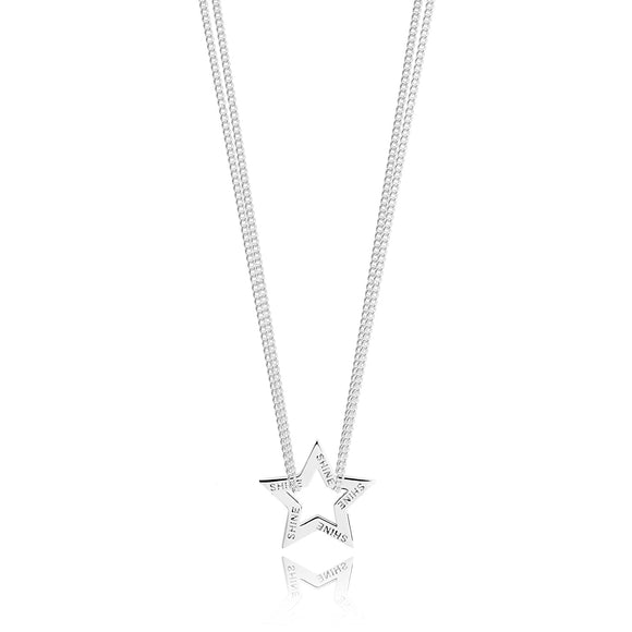 gifteasyonline - Joma Silver Lea Star Necklace - Joma Jewellery - Necklace