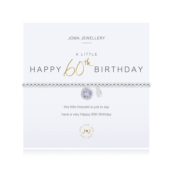 Joma Jewellery a little 60th Birthday bracelet