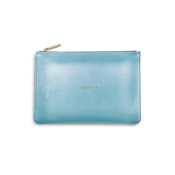 Katie Loxton - The Perfect Pouch - Time To Shine - Metallic Blue - Gifteasy Online