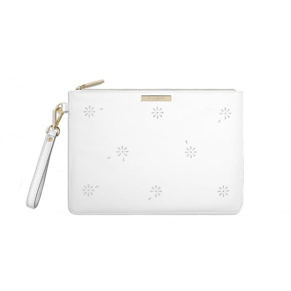 Katie Loxton - Beautiful Blossom Pouch - White - Gifteasy Online