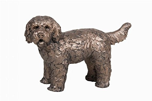 Frith Cold Cast Bronze Button Labradoodle Dog
