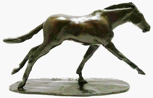 Unique Bronze Hot Cast Solid Bronze Horse Running