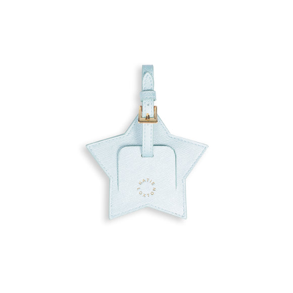 Katie Loxton BABY LUGGAGE TAG - LITTLE ONE - metallic blue - 9.7x10.2cm