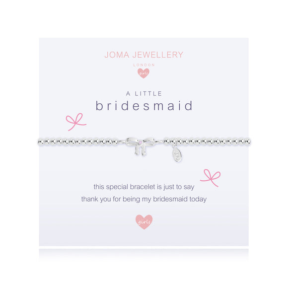 Joma Jewellery Children's A Little Bridesmaid Bracelet