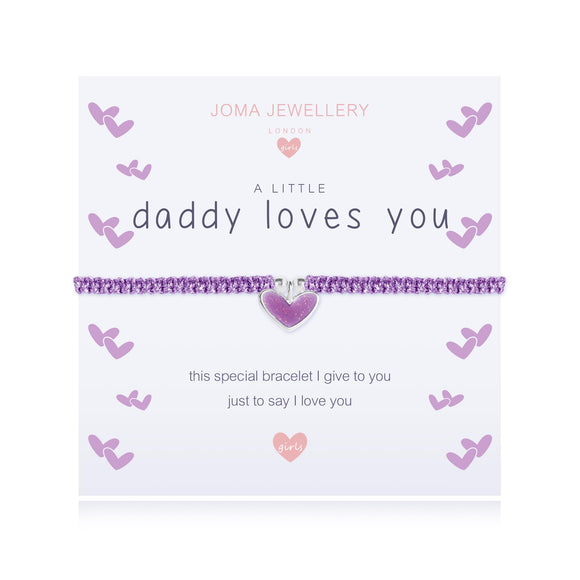 Joma Jewellery A little - DADDY LOVES YOU Bracelet Childrens