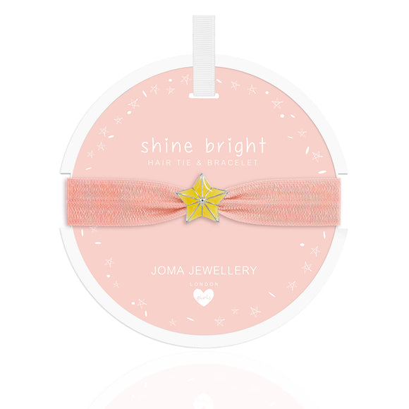 Joma Jewellery Star Hair Tie Shine Bright Pale Peach - Gifteasy Online