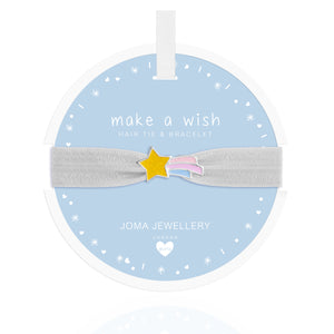 Joma Jewellery Shooting Star Hair Tie Make A Wish White - Gifteasy Online