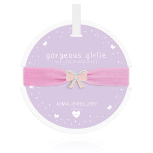Joma Jewellery Bow Hair Tie Gorgeous Girlie Lilac - Gifteasy Online