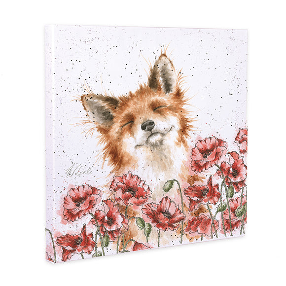 Wrendale 'Poppy Field' Fox Canvas