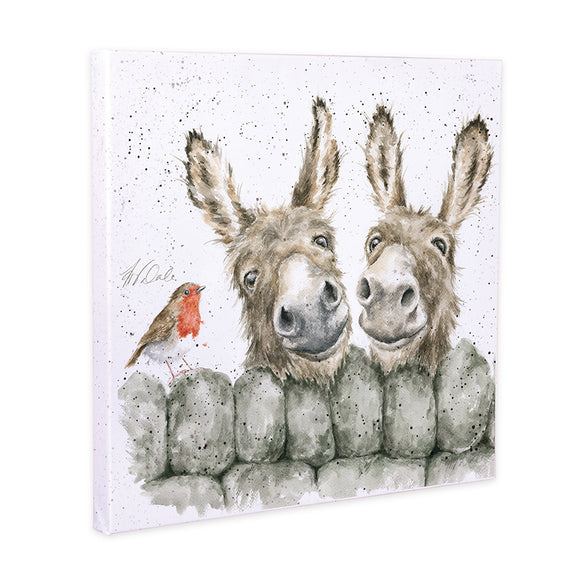 Wrendale 'Hee Haw' Donkey Canvas