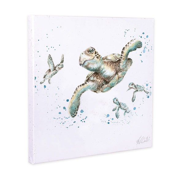 Wrendale 'Swimming School' Turtle Canvas