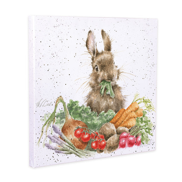 Wrendale 'Grow Your Own' Rabbit Canvas