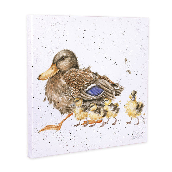 Wrendale 'Room for a small one' Duck Canvas