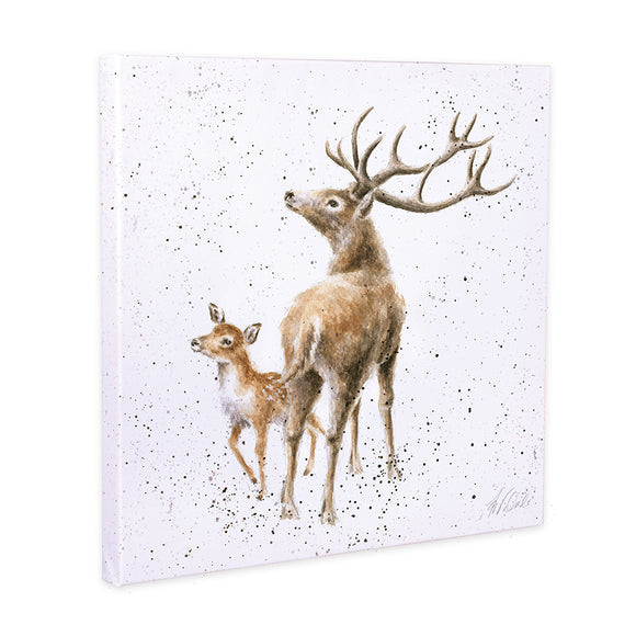 Wrendale 'The Stars in the Bright Sky' Stag Canvas