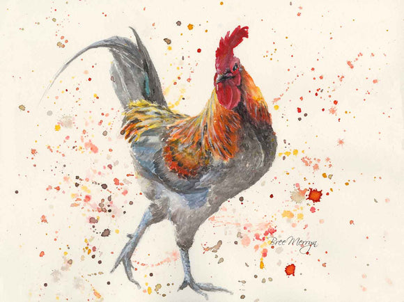 Canvas Cuties Carl Cockerel Rooster Canvas 15cm x 20cm