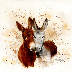 gifteasyonline - Box Canvas Print Colourful Jack & Diane Donkey 40cm x 40cm Boxed - Bree Merryn - Box Canvas