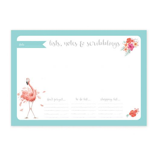 Wrendale Flamingo A4 Desk Planner