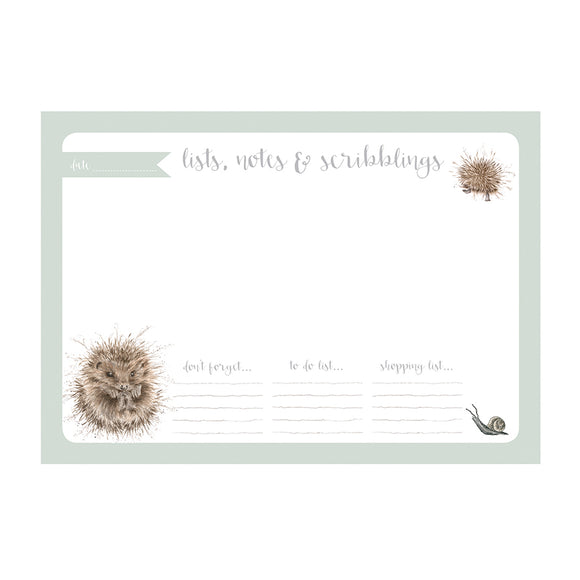 Wrendale Hedgehog A4 Desk Planner
