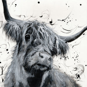 Box Canvas Print Dougal Highland Cattle 40cm x 40cm Boxed