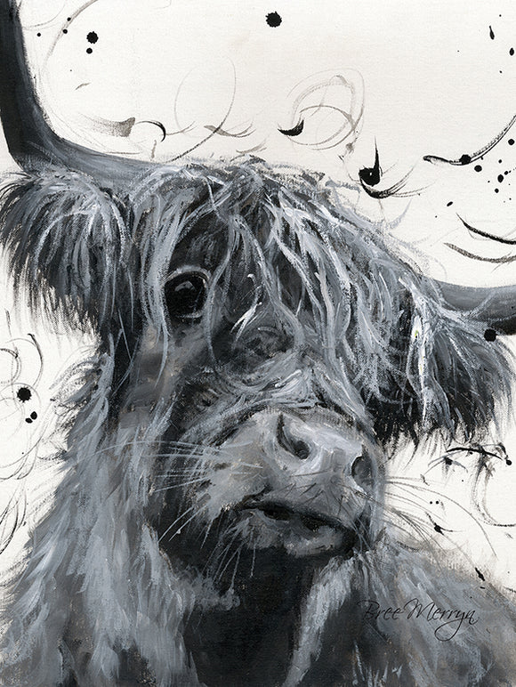 Canvas Cuties Dougal Highland Cattle Canvas 15 x 20cm