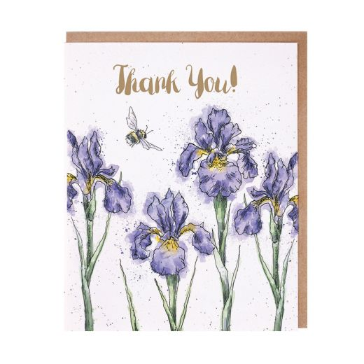 Wrendale 'Irises' Thank You Card