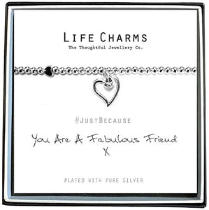 Life Charms You Are A Fabulous Friend Bracelet