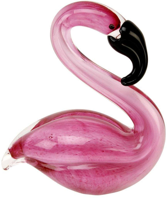 Juliana Objets d'art Glass Figurine - Pink Flamingo Paperweight Ornament