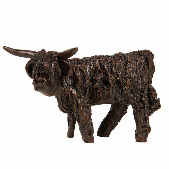 Frith Creative Bronze Solid Bronze Highland Cow Standing - Gifteasy Online