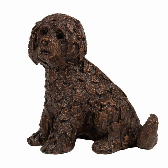 Frith Creative Bronze Solid Bronze Labradoodle Sitting - Gifteasy Online