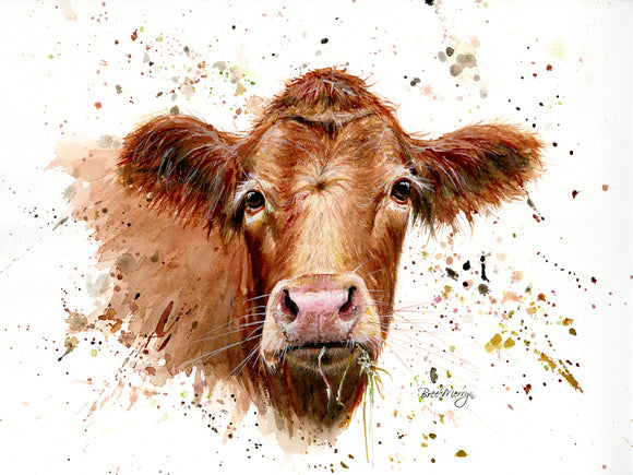 gifteasyonline - Canvas Cuties Gertrude Cow Canvas 15 x 20cm - Bree Merryn - Canvas Cuties