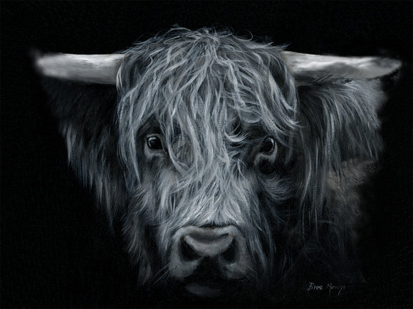 Canvas Cuties Hamish Highland Cattle Canvas 15 x 20cm