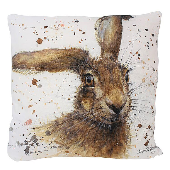 Luxury Fibre Filled Harriet Hare Cushion. Size 43 x 43 cm