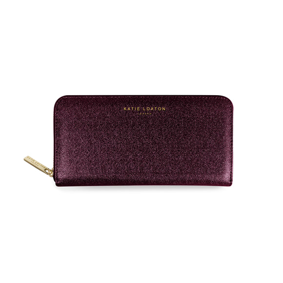 gifteasyonline - Katie Loxton ALEXA PURSE large coin/card purse - burgundy shimmer - 10x20x2.5cm - Katie Loxton - Purse