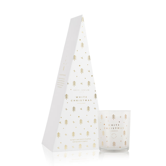 Katie Loxton FESTIVE CANDLE - WHITE CHRISTMAS - Nutmeg and spiced pumpkin - 160gr