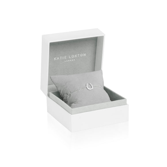 Katie Loxton STERLING SILVER - LOVE LUCK SPARKLE - Sterling Silver Bracelet