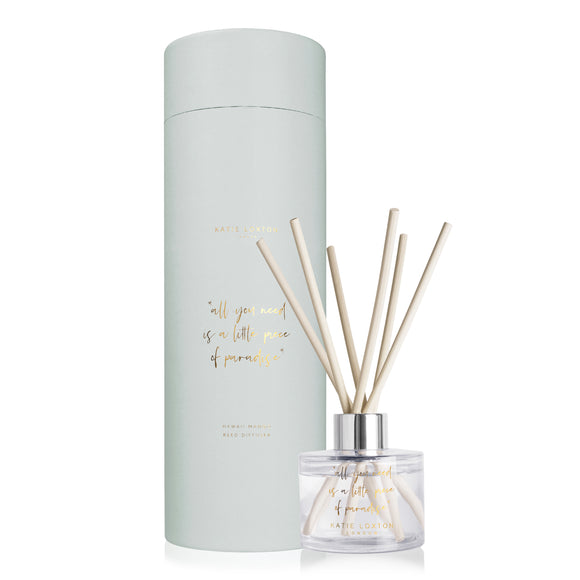 Katie Loxton ALL YOU NEED IS A LITTLE PIECE OF PARADISE REED DIFFUSER | HAWAII MANGO