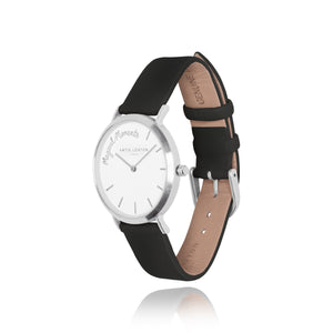 gifteasyonline - Katie Loxton MAGICAL MOMENTS WATCH - MAGICAL MOMENTS silver plated - black PU strap - Katie Loxton - watch
