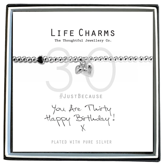 Life Charms Happy 30th Bracelet