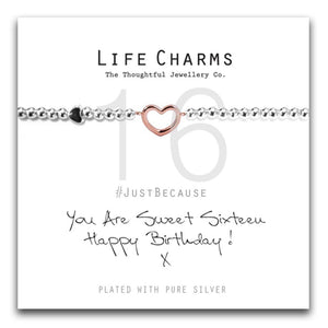 Life Charms Happy 16th Birthday Bracelet