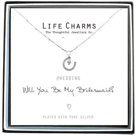 Life Charms Will You Be My Bridesmaid Necklace