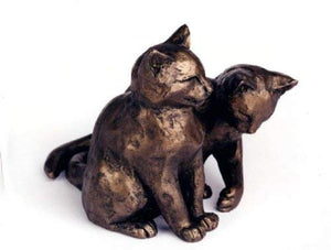 gifteasyonline - Frith Lucky & Scruff Cold Cast Bronze Cats - Frith - Sculpture