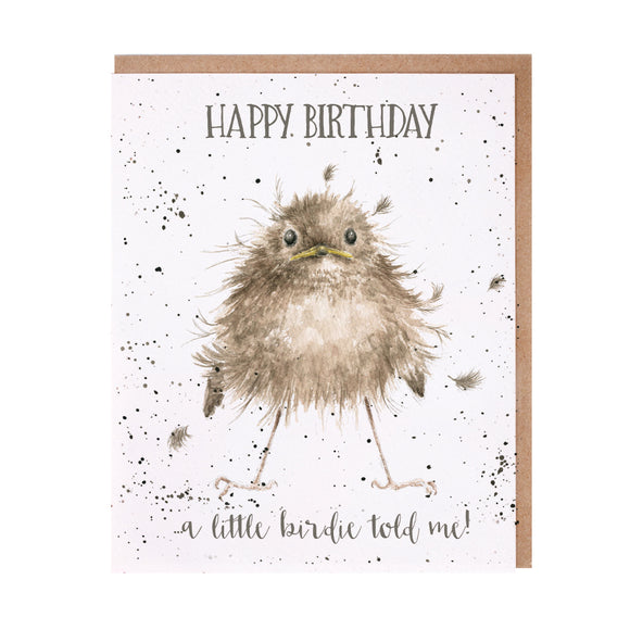 Wrendale 'Little Wren' Birthday Card