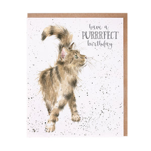 Wrendale 'Just Purrfect' Birthday Card
