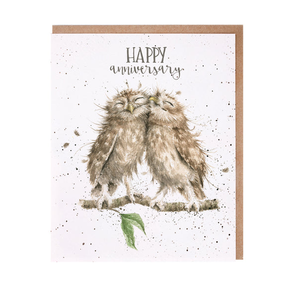 Wrendale 'Anniversary Owls' Anniversary Card