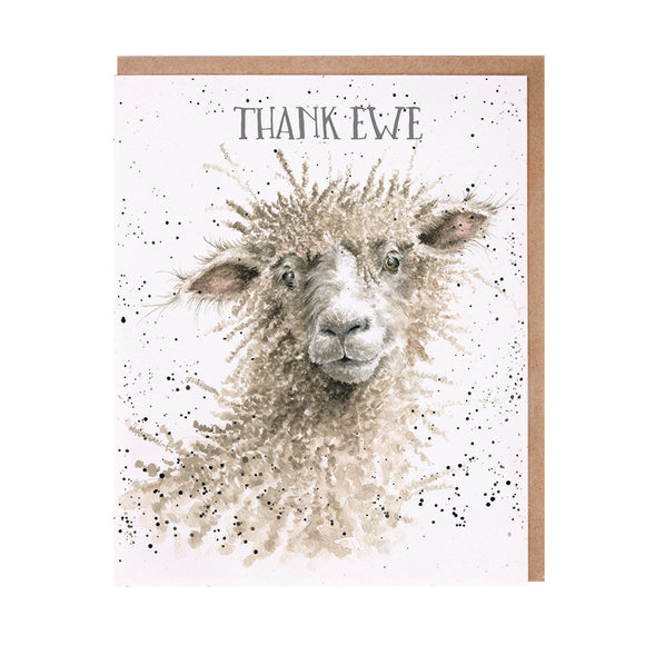 Wrendale 'Thank Ewe' Thank You Card