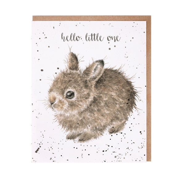 Wrendale 'Little Leveret' New Baby Card